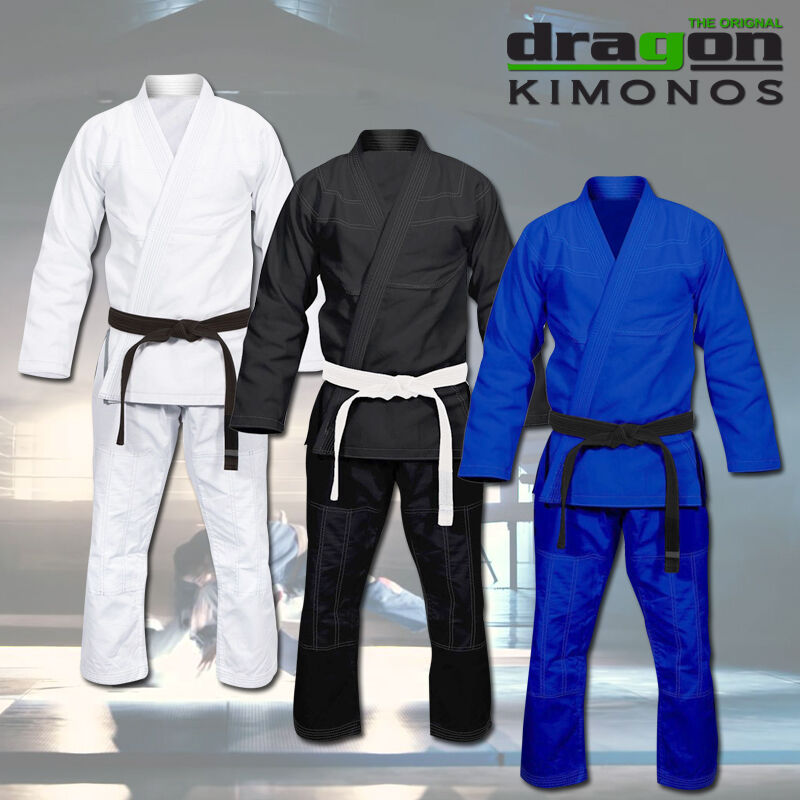 Dragon  BJJ Gi Full Blank Brazilian Jiu Jitsu Kimono MMA Grappling Martial Arts  70% off cheap