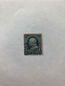 Rare-One-Cent-Benjamin-Franklin-Stamp-good-condition
