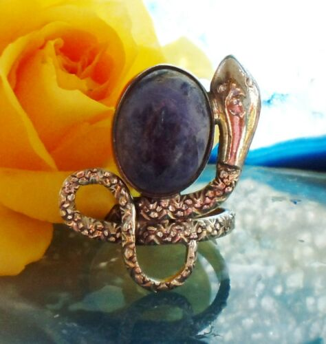 Ring Snake Sodalite Blue Stone of the Zodiac Signs Sagittarius