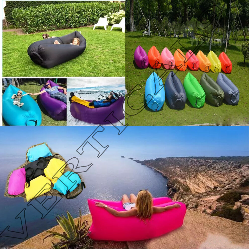 Outdoor Inflatable Sofa Air Bed Lounger Chair Sleeping Bag