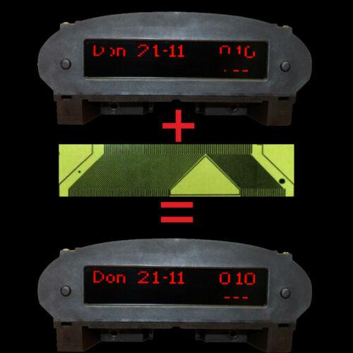 Für Peugeot 206 Multi Info Display Anzeige Uhr Reparatur Pixel Folie 07
