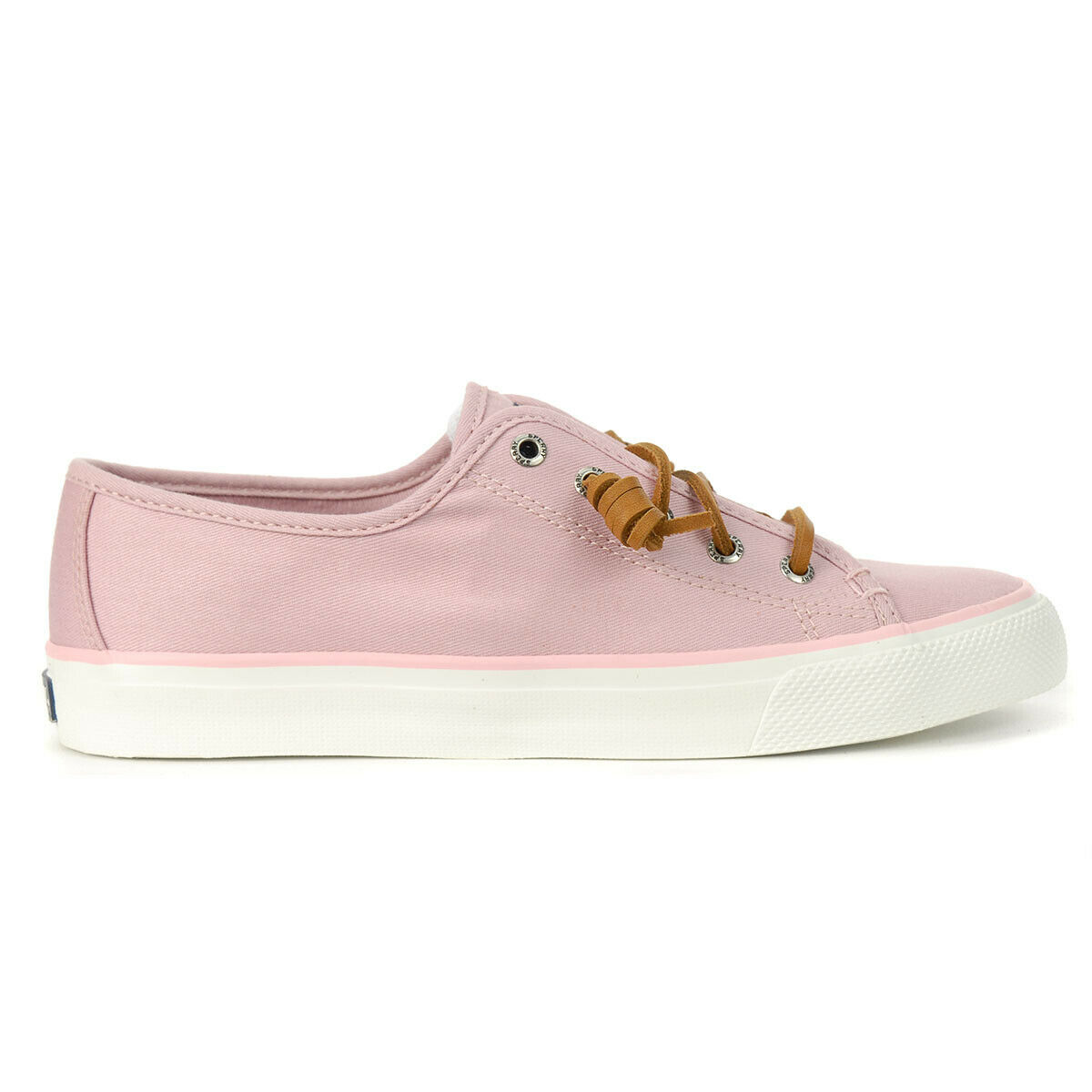 Sperry Top-Sider Women's Seacoast Canvas 2 Lace Pink Sneakers STS97637 NEW