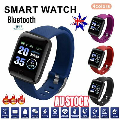 Smart Watch Band Sport Activity Fitness Tracker For Kids Fit bit Android iOS AU  | eBay