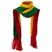 Rasta Ethiopia Jamaica Green,yellow, Red Selassie Reggae Scarf-new
