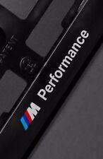 2 x BMW M European Euro License Number Plate Frame Holder Tag Mount