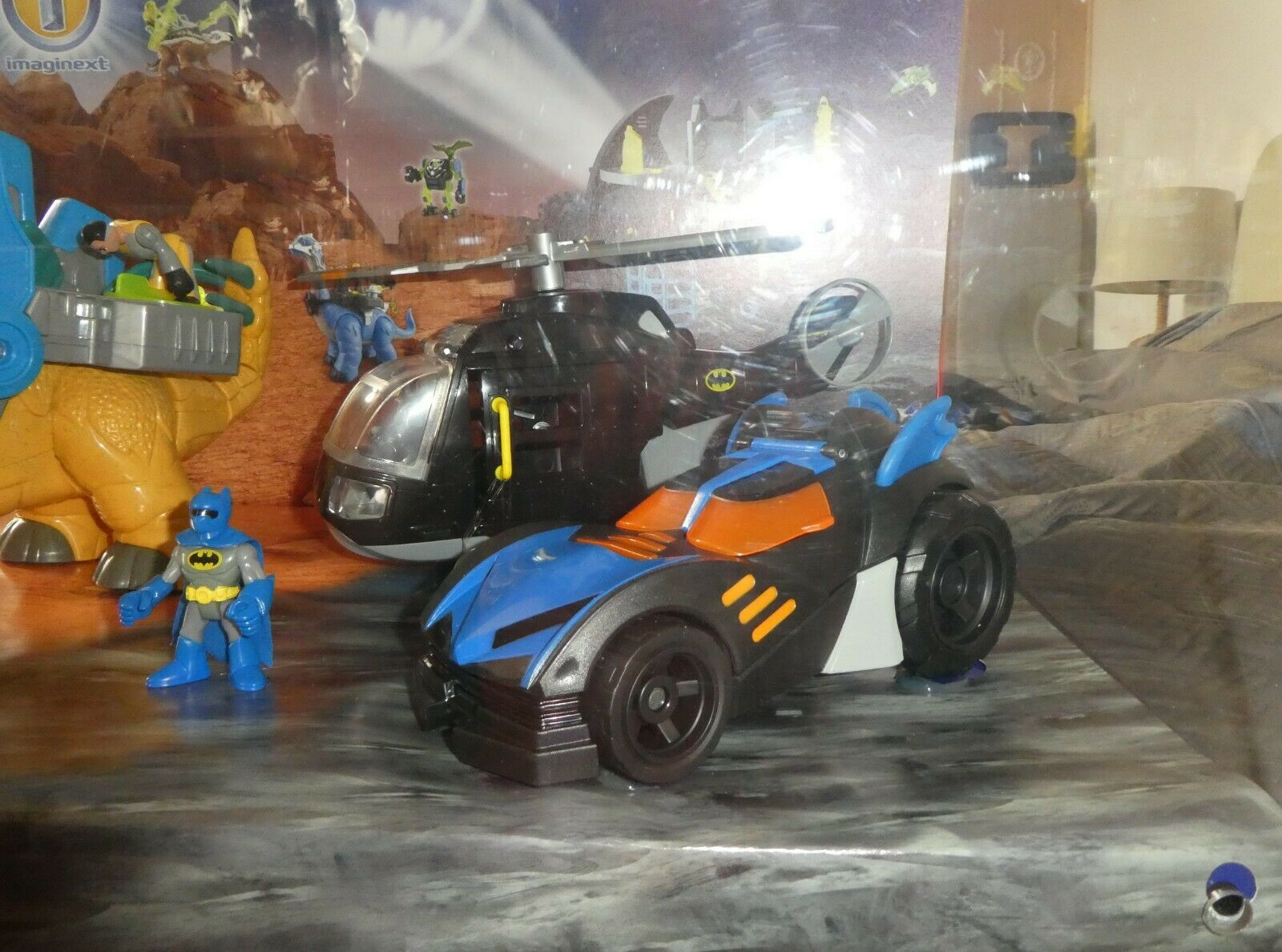 Dc Dc Dc Ex Display Promo Imaginext Fisher Batman Batmobile  light up motion talking e0f018