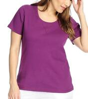 - Oso Casuals® Knit Short Sleeved Scoop Neck Tee - Sz. 1x