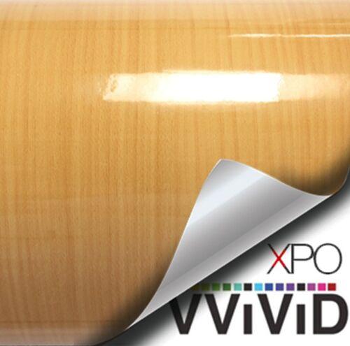 "Golden Pine Wood Grain Glossy Vinyl Wrap DIY Home Office Decor Vinyl 5ft x 48/"""