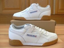 97a72142293 Reebok Workout Plus Trainers in White - Classic H Strap Soft Full ...