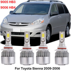 Image Is Loading Led Headlight Kits 9005 9006 Hi Low Beam