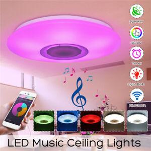 Neu 24W Dimmbares LED-Licht Bluetooth Musik-Deckenleuchte mit Lautsprecher Lampe