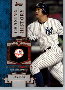 2013 Topps Chasing History #CH-42 Alex Rodriguez - New York Yankees