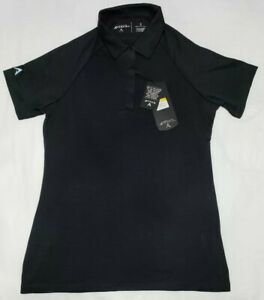 NEW-Antigua-Womens-Swirl-Black-Golf-Desert-Dry-Polo-Shirt-Ladies-Size-S-Small