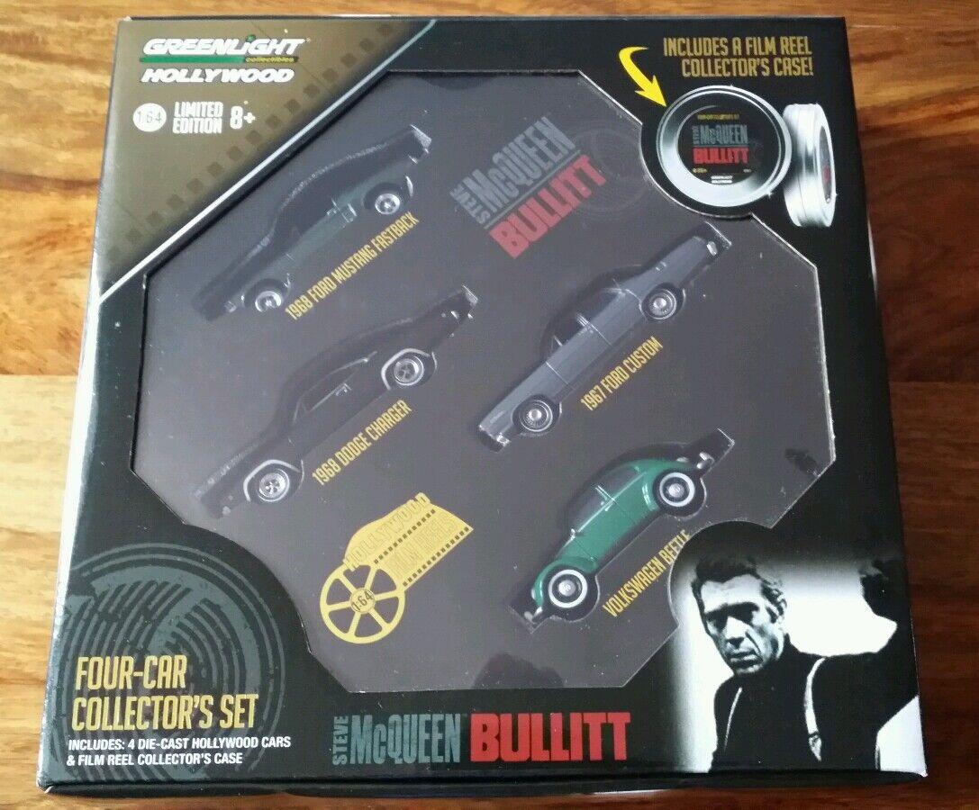 Greenlight Hollywood - BULLITT  Car Film Reel Collector Set Limited Edition 1 64