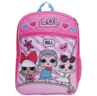 "Girls LOL Surprise Doll Bling Backpack School Bag Rucksack Pink 13/"""