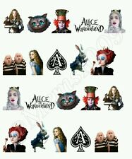 Alice In Wonderland Nail decals Free shipping! Water decals