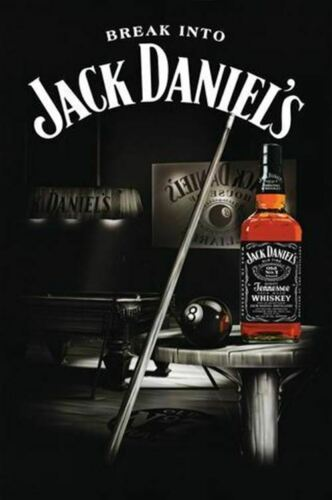 Jack Daniels Whiskey Pool Themed Poster 24 X 36