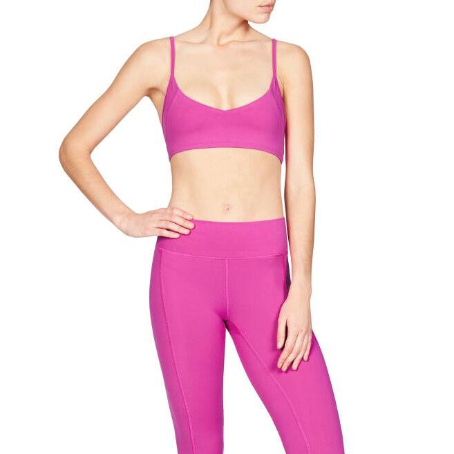 NEW  Vie Active Womens Mia Bralette Bra Sz L Persian pink Workout Cancer P19