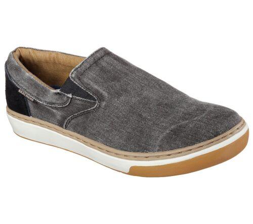 New Hommes Skechers Relaxed Fit Palen Tiago Chaussure Style 64631 Noir 116D Pr