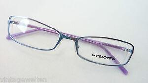 Kleidung & Accessoires Das Beste Damenfassung Gestell 49-18 Feminin Brille Schmal Metallbrille Blau-lila Grösse M Rheuma Und ErkäLtung Lindern Sonnenbrillen
