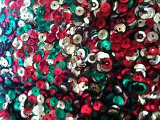 30g Sequins 7mm Christmas Mix, trimmings,  sewing craft decoration Free postage