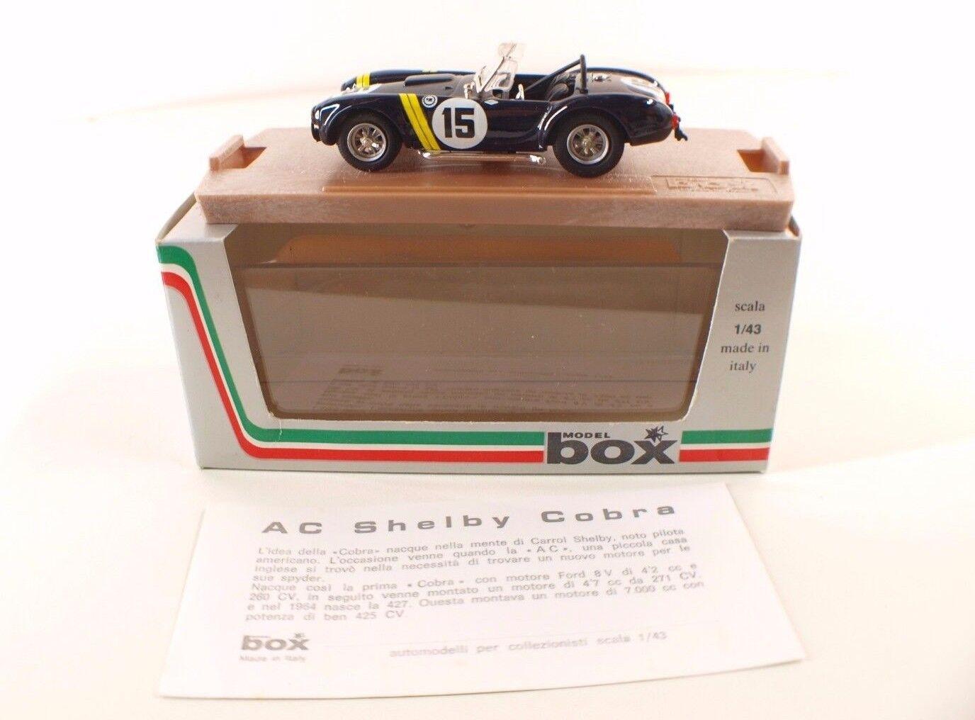 modellllerlero låda Ref 8414 AC Shelby Cobra Sebring 1963  43 Hecho en Italia Nuevo