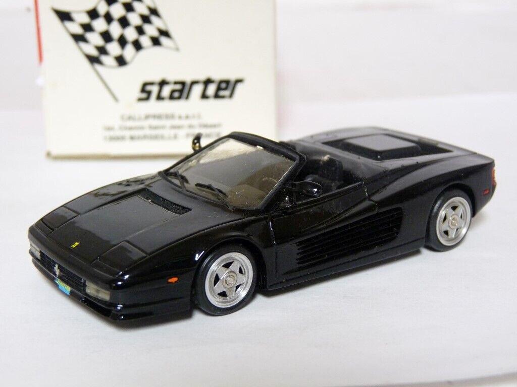 Starter 1/43 Ferrari Testarossa Straman Resin Handmade Model Car Kit