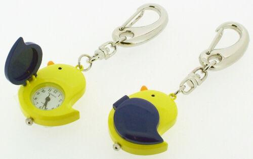 Novelty Chick Keyring Miniature Clock