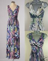 Ex BODEN Maxi Dress Floral Print Lupin Summer Vintage Beach Size 8-18 Reg Long