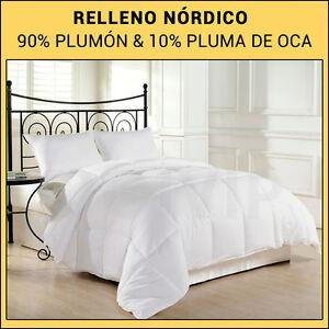 Edredon Nordico PLUMON DE OCA 90% & 10%Pluma de OCA Relleno