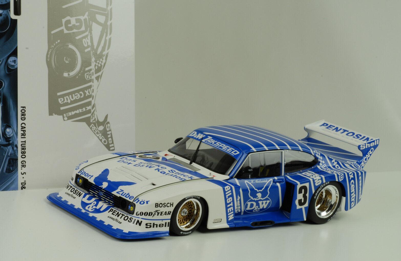 1982 Ford Capri turbo taille 5  DRM D & w Klaus Niedzwiedz 1 18 MINICHAMPS  livraison gratuite!