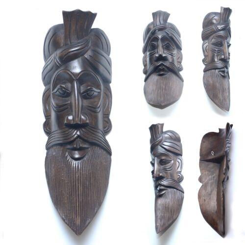Mask Handmade Carved Wooden 3D Masks Wall Home decor Light Weight 35cmX12cmX6cm