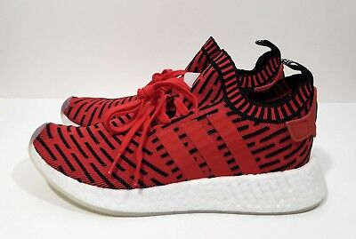 Adidas Nmd R2 Pk Mens Running Shoes Red Black Size 9 Ebay