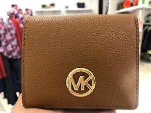 acead1a1e537 NWT Michael Kors FULTON CARRYALL Leather Card Case Coin Purse Wallet ...