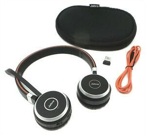 Jabra Evolve 65 Stereo Ms Link 370 Professional Noise Cancelling Headset 706487015130 Ebay