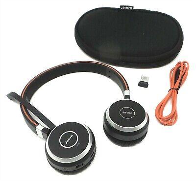 Jabra Evolve 65 Stereo Ms Link 370 Professional Noise Cancelling Headset 706487015130 Ebay
