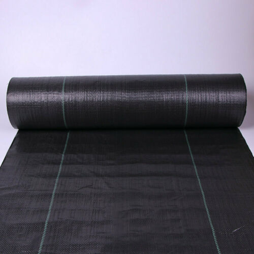 NEW 1m Wide 100gsm PP Woven Weed Control Landscape Fabric Garden Mulch 3-5 YR