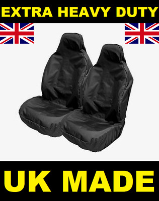 VAUXHALL CORSA EXTRA HEAVY DUTY CAR SEAT COVERS PROTECTORS X2 WATERPROOF