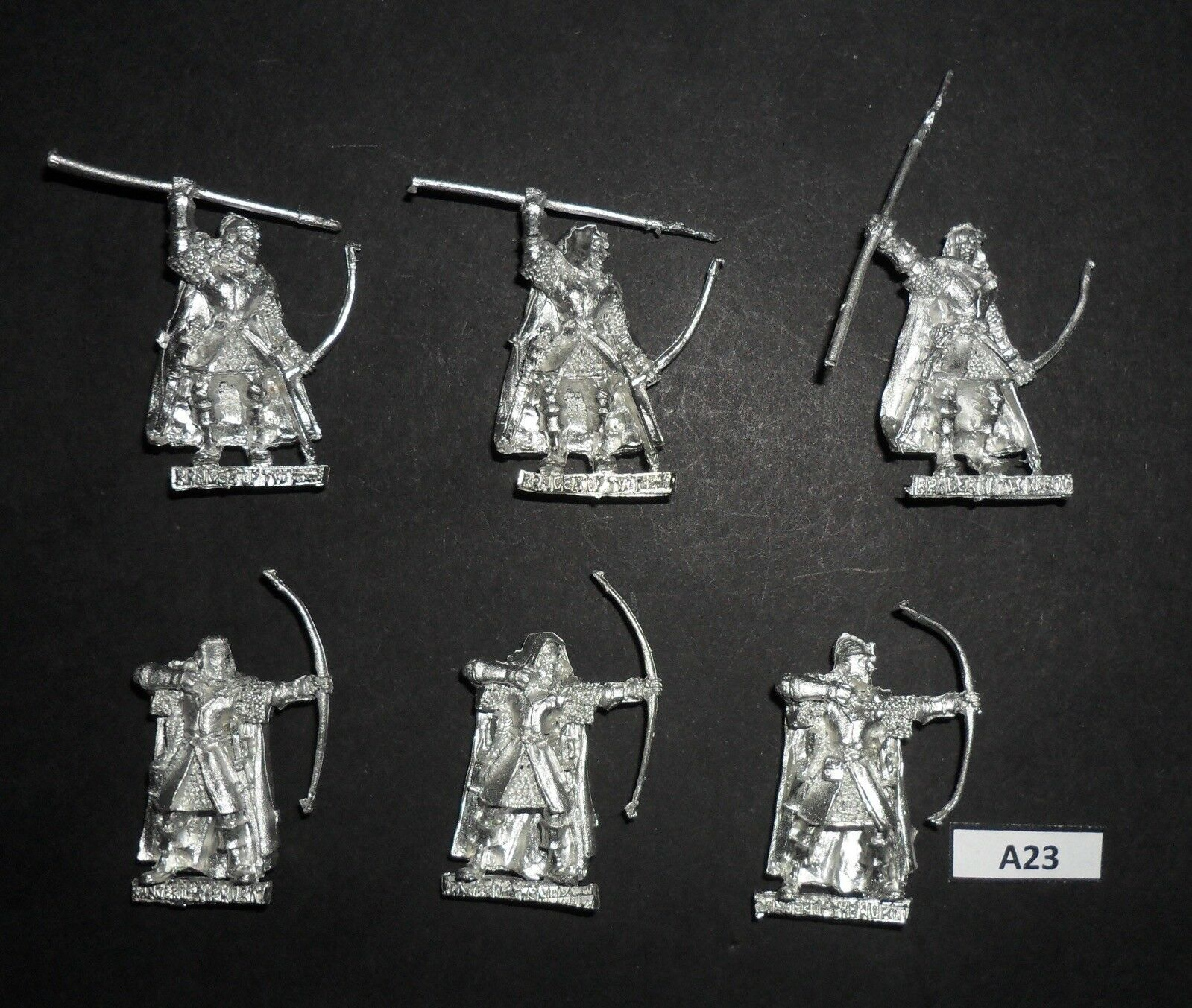 Warhammer Lord of The Rings LOTR Metal RANGERS OF THE NORTH X6 FULL SET A 23