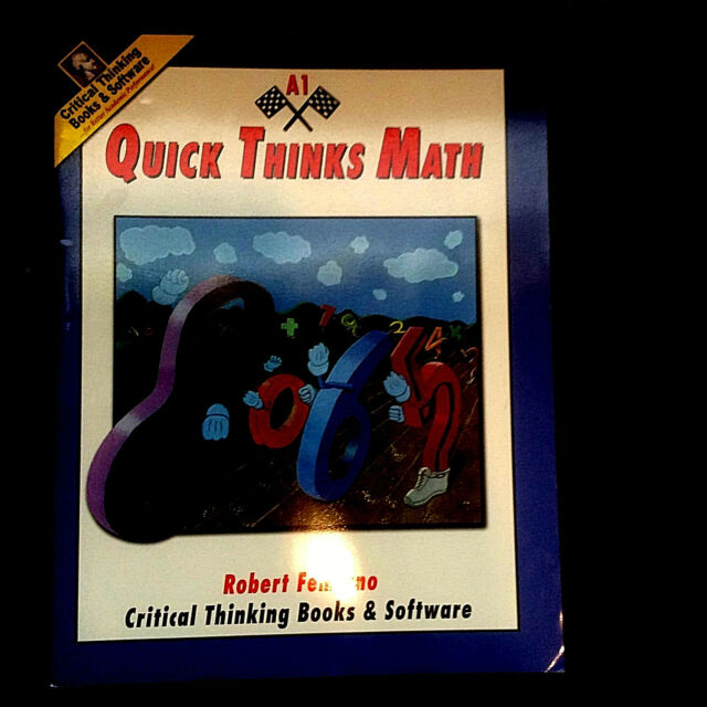 Quick Thinks Math A1 Quick Thinks Math by Robert Femiano 1985 Paperback