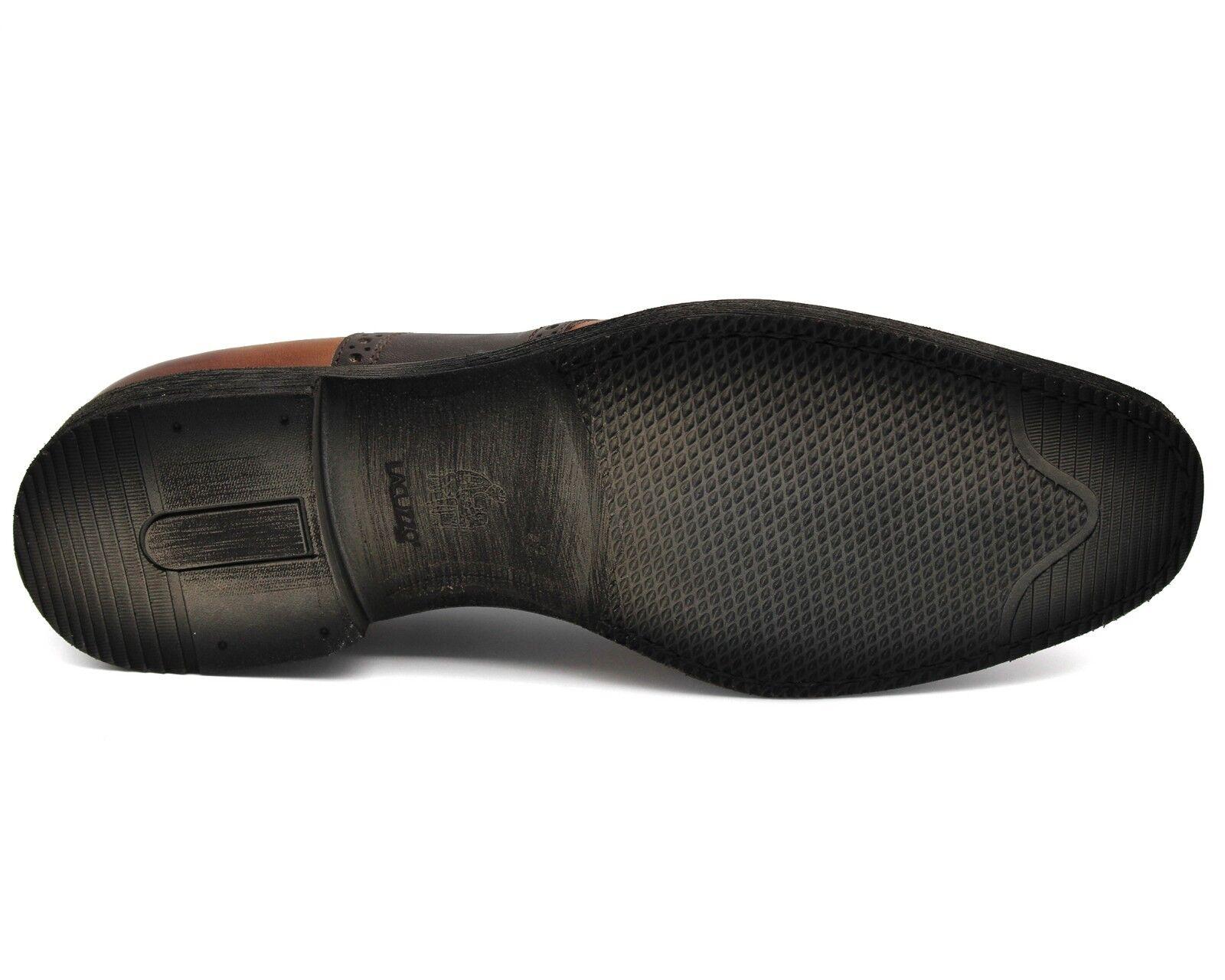 Reino Unido 8 para Hombre Marrón Real Real Real Cuero Inteligente Zapatos Con Cordones Trabajo De Oficina Informal 933266