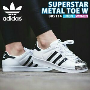 Details about Adidas Superstar Metal Toe Women's White Black Silver Metallic Size US 8