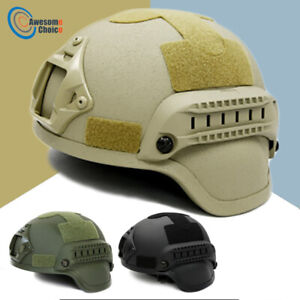 Quality-Tactical-Helmet-Airsoft-Gear-Paintball-Head-Protective-Face-Mask-Helmet