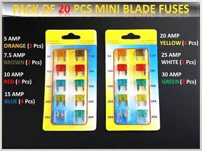 20pcs BMW Auto Fahrzeug Sicherungen Set Blade 10 15 20 25 30AMP