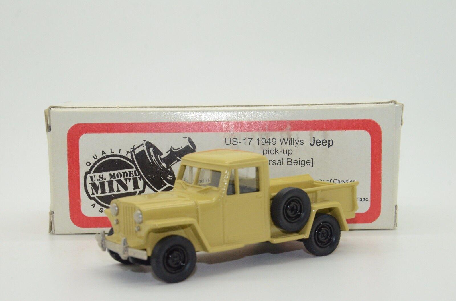 Raro Jeep Willys recoger 1949 nos menta Modelo Brooklin EE. UU. 17 1 43