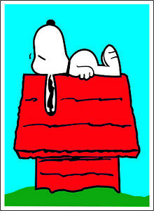 "Peanuts Snoopy Typing bumper sticker wall decor vinyl decal 4/""x 5/"""
