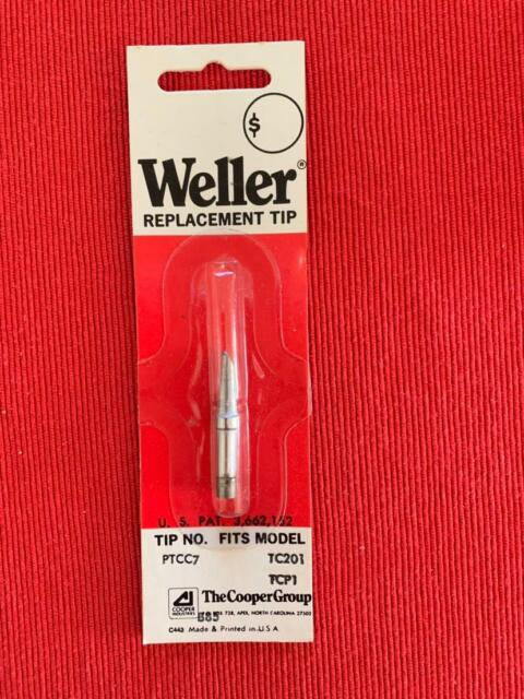 LOT of 10 REPLACEMENT INDUSTRIAL SOLDERING TIPS PTH7  WELLER TC201  NEW