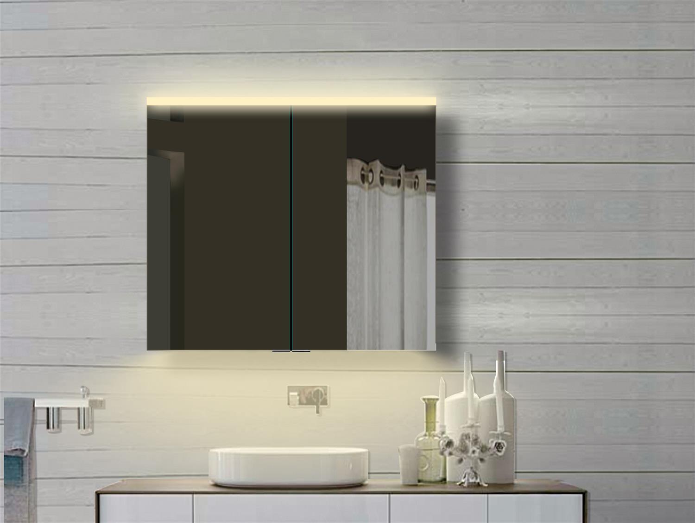 LED Badschrank Spiegelschrank Badmöbel Badspiegel Wandschrank Kalt   Warmweiß Warmweiß Warmweiß 80 b3094c