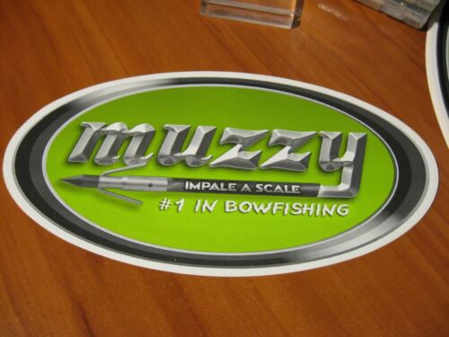 """Details about  /Muzzy Bow Fishing Decal 10/"""" x 5.25/"""" Surface Mount Logo Sticker /""""Impale A Scale/"""""""