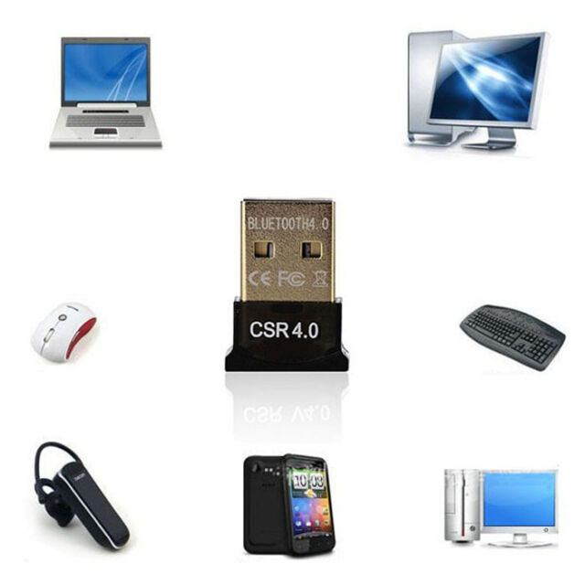 Useful Mini USB Bluetooth V4.0 Dongle Dual Mode Wireless Adapter For Laptop PC
